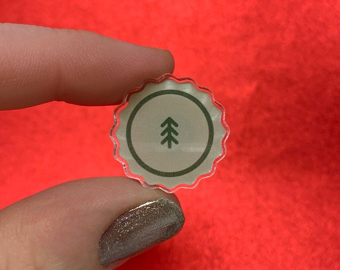 "Explore the Forest --- ""Minnesota Nice"" Limited Edition Collection --- Acrylic Die Cut Scalloped Pin"