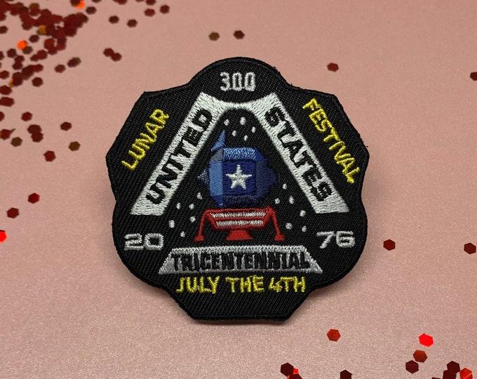 "USA Tricentennial ""Lunar Festival 2076"" Embroidered Patch"