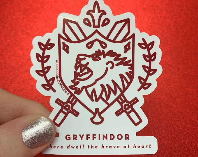 WINDOW CLING --- Gryffindor House Crest --- Harry Potter Vinyl Die Cut Static Cling