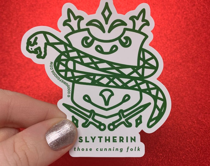 WINDOW CLING --- Slytherin House Crest --- Harry Potter Vinyl Die Cut Static Cling