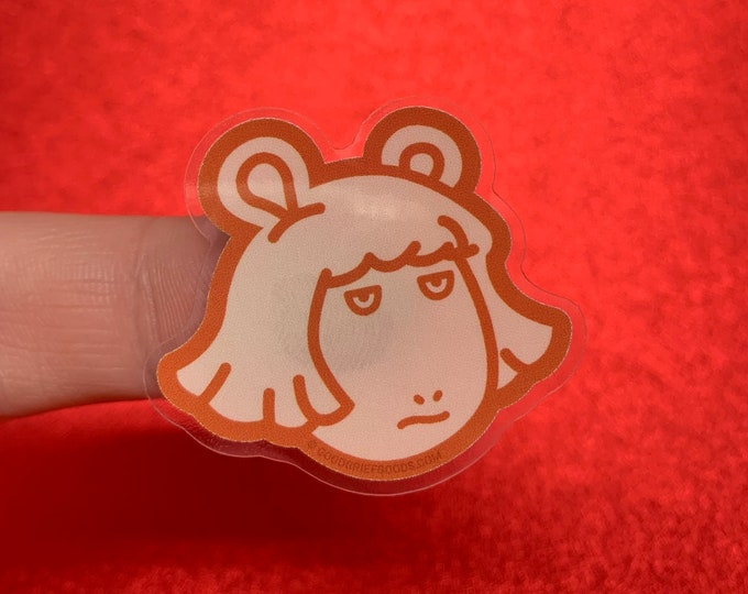 "Arthur PBS ""D.W. is Not Amused"" Clear Vinyl Die Cut Weather Resistant Sticker"