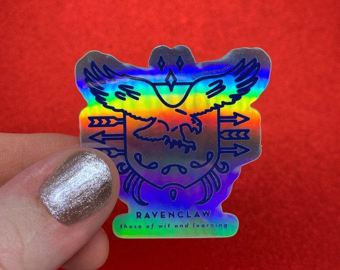 Ravenclaw House Crest --- Harry Potter Holographic Vinyl Die Cut Weather Resistant Sticker