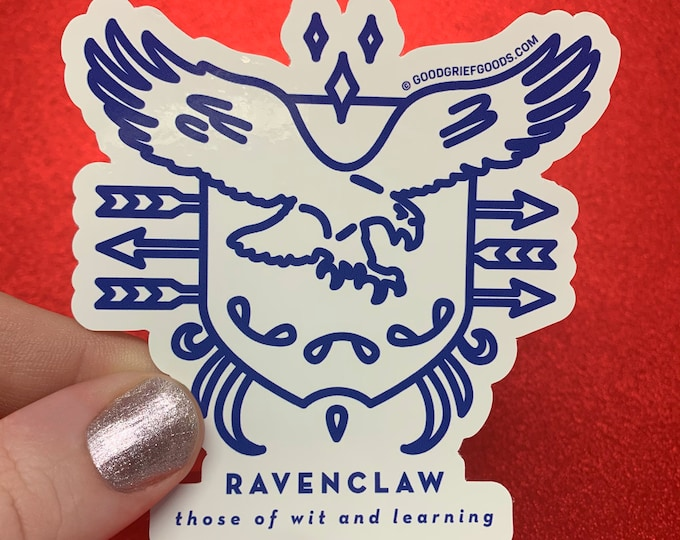 WINDOW CLING --- Ravenclaw House Crest --- Harry Potter Vinyl Die Cut Static Cling