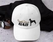 Great dane Dad hat - father's baseball hat - dane dog lover men