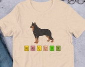 Beauceron Short-Sleeve Unisex T-Shirt, Cute science shirt, Chemistry shirt