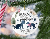 Born during a pandemic with dog, Puppy and baby first christmas, Dog and