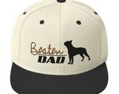Boston terrier dad Snapback Hat