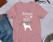 Brittany Spaniel Short-Sleeve Unisex T-Shirt, Super gift for brittany mom and brittany dad