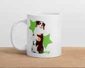 Custom Australian shepherd Mug, Red tri color Aussie mug, Super gift Aussie mom and dad