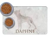 Custom Boston Terrier Pet Placemats, practical boston terrier gift, dog food mat, dog feeding mat