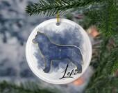 Siberian Husky Porcelain Ornaments,Canis Major Constellation, Memorial Gift, Dog Lover Mom. Personalization Gift
