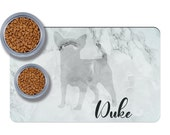 Custom Chihuahua Pet Placemats, Personalized Dog Gift, Dog Food Mat, Dog Feeding Mat