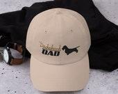 Wirehair dachshund Dad hat