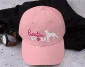 Boston terrier baseball mom hat