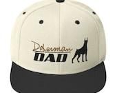 Doberman lover dad Snapback Hat