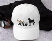 Boxer lover Dad hat - working dog lover men