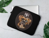 Boxer Laptop Sleeve, Steam punk boxer dog gift, perfect giftst every boxer mom and boxer dad, Dog laptop sleeve, Personalized Laptop Case