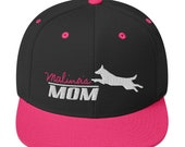 Belgian malinois mom Snapback Hat, women with her working dog