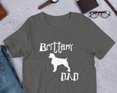 Brittany Spaniel Short-Sleeve Unisex T-Shirt, Super gift for  brittany dad