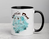 Chesapeake bay retriever Mug with Color Inside, Funny cartoon retriver drawing