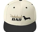 Dachshund dad Snapback Hat