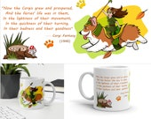 Corgi mug, fairy, Corgi fantasy, funny cartoon corgi, poem mug,  coffee mug, best gift, Funny Birthday Gift, Dog Lover, Dog Mum Dad,