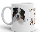 Australian shepherd mug, cowgirl mug, aussie coffee mug, gifts for girl and dog lovers, country american cowboy style,