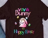 Easter Corgi Short-Sleeve Unisex T-Shirt, Viva Bunny or Happy Easter funny corgi shirt for cogri moms