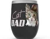 Cat Dad Stemless Wine Tumblers