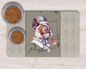 Custom Vintage French Bulldog Pet Placemats,Frenchie Mom Gift, Dog Food Mat, Dog Feeding,Dog Bowl Mat, Custom Pet Gifts, Custom Pet Mat