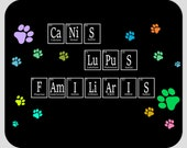 Canis Lupus Familiaris (The Dog) Mousepads, Science Gift For Dog Lovers