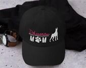 Doberman lover mom hat - doberman mom gift