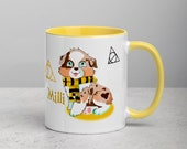 Custom Australian shepherd puppy Mug with Color Inside, Cute aussie mug