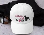 Staffordshire bull terrier baseball mom  hat