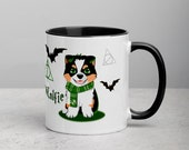 Custom Australian shepherd Mug with Color Inside, Aussie puppy mug, Aussie mom and aussie dad