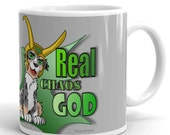 Australian shepherd cartoon style mug I aussie mug Iblue merle aussie grey mug