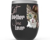 Cat Lover Women Stemless Wine Tumblers