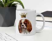 Custom cavalier king charles spaniel Mug, Elegant spaniel gift for cavalier mom and cavalier dad