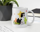 Custom border collie Mug, Cute puppy border collie mug for border lovers