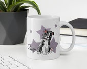 Custom Border collie Mug, Blue merle border collie puppy mug, Border collie mom and border collie dad gift