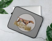 Custom Vizsla Laptop Sleeve, Hungarian vizsla gift, practical gift for every vizsla mom and vizsla dad, personalized gift