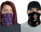 Boxer dad and boxer mom couple mask/ Neck Gaiter