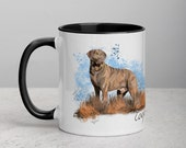 Custom Chesapeake bay retriever Mug with Color Inside, Painted chessie picture