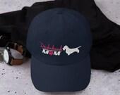 Wirehair Dachshund Baseball mom hat