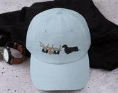 Long Haired Dachshund Baseball hat for dog lover mom