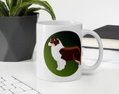 Custom Red tricolor Australian Shepherd Coffee Mug, Perfect gift for aussie Mom or Dad, Aussie lover gift, Best aussie dad
