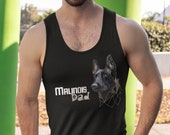 Belgian malinois dad Unisex Tank Top, fitness top with malinois