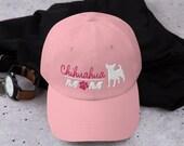 Chihuahua Baseball mom hat, chihuahua mom