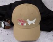 Golden retriever baseball hat , golden mom gifts