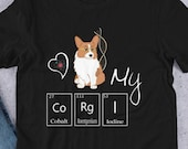 Corgi cartoon Short-Sleeve Unisex T-Shirt, Geek corgi shirt